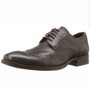 Cole Haan Brown Copley Derby Wing Tip Oxford